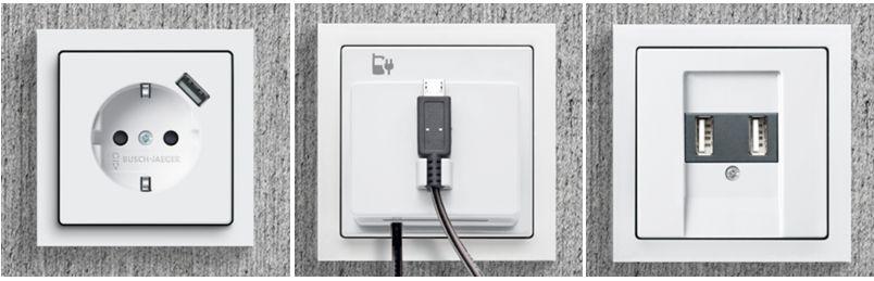 Busch-Jaeger USB oplossingen