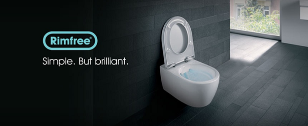 Rimfree toilet